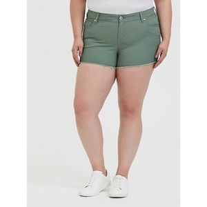 NWT Torrid Agave Green Shorts Size 24
